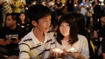 纪念六四运动的台湾青年